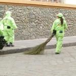 マドリッドの道路清掃はジェット噴射だ!